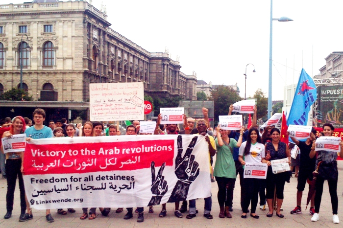 Solidarity with Egypt at Gaza protest in Vienna(c)Linkswende