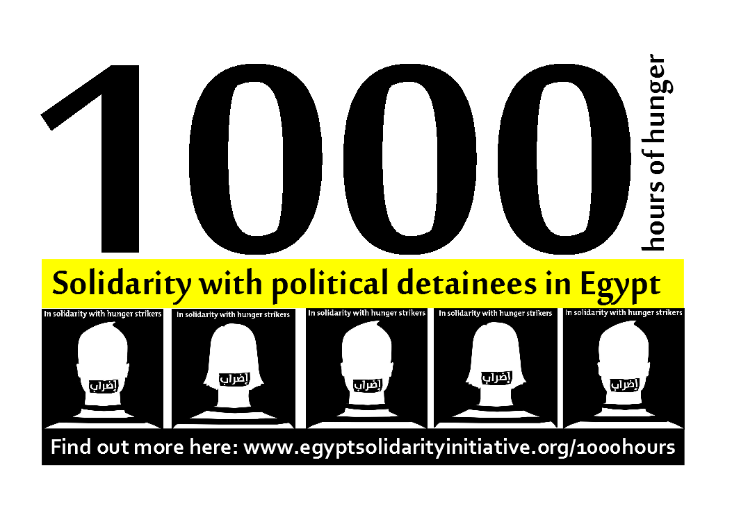 1000 Hours Of Hunger Action In Solidarity With Egypts Detainees