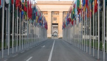 Flags at the UN by Yann (via Wikimedia Commons)