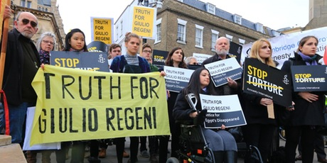 Cambridge rally - Truth for Giulio