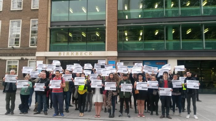 Academics, students and trade unionists highlight the overcrowding in Egyptian prison cells during the Bloomsbury rally for #TruthforGiulio and justice for Egypt's disappeared 27 May 2016